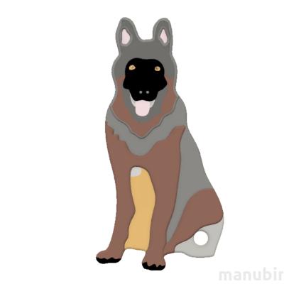 German Shepherd Keychain - with custom text option