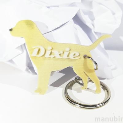 Labrador Shaped Keychain