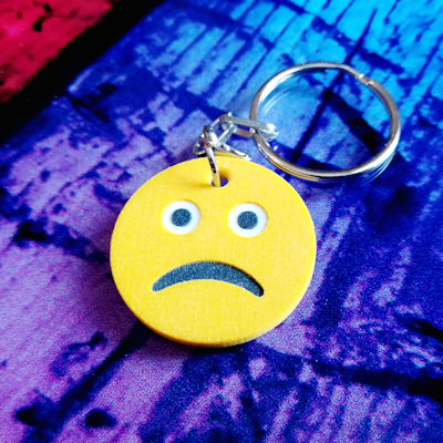 Frowning Face Emoji Keychain
