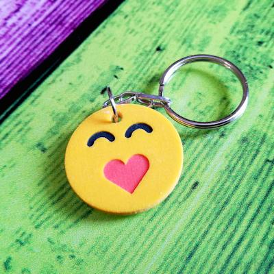 3d printed emoji keychain