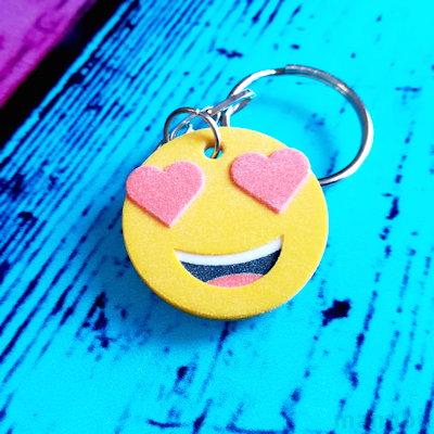 Smiling Face With Heart-Eyes Emoji Keychain