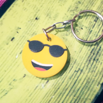 Sunglasses Emoji Key ring