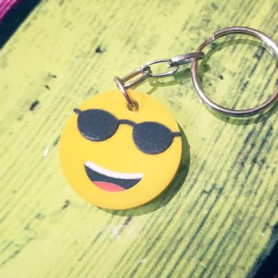 Sunglasses Emoji Key ring