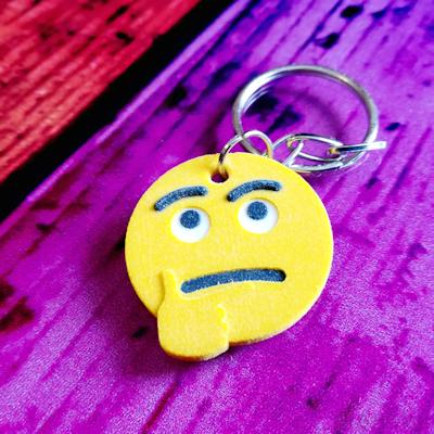 Thinking Face Emoji Key ring