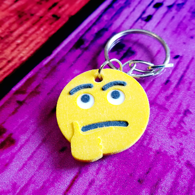 Thinking Face Emoji Key ring