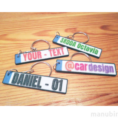 License Plate Keychain - custom