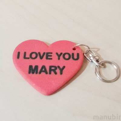 Custom 3D Printed Gift - Heart Shaped Keychain