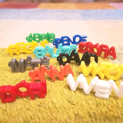 Letter Keychain - custom 3d printed