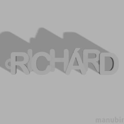 Betűs kulcstartó - Richárd