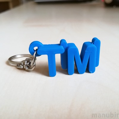 Betűs kulcstartó - Timi