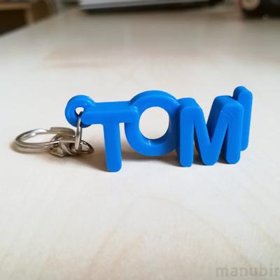 Betűs kulcstartó - Tomi