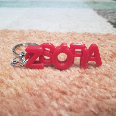Keychain with name