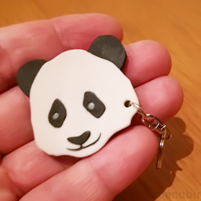 Panda Keychain - with custom text option