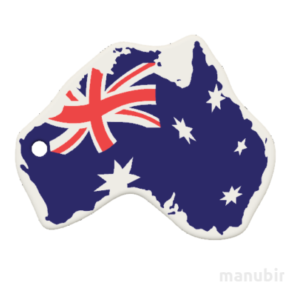 Egyedi kulcstartó - Ausztrália