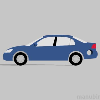 """Egyedi kulcstartó - """"HondaCivicSedan"""" (50x17x4 mm) - Multicolor - kék"""