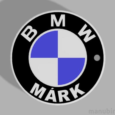 """Egyedi kulcstartó - """"Márk"""" (42x42x4.4 mm) - Multicolor, kompozit por"""