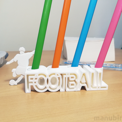 Football Pencil Holder - 3D printed