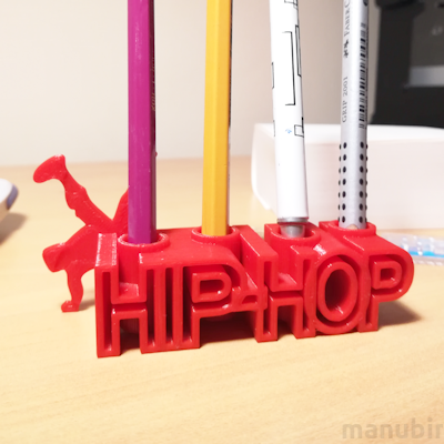 Hip-Hop Pen Holder - 3D printed