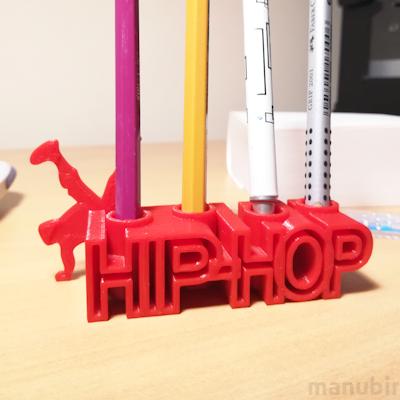 Hip-Hop Pen Holder - 3D printed