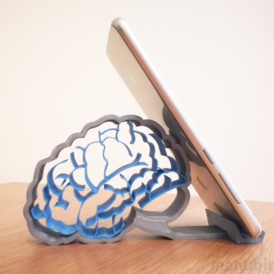 The Brain Smartphone Holder - custom 3D printed