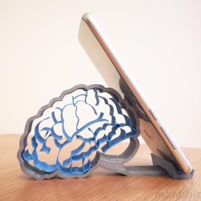 The Brain Smartphone Holder - custom 3D printed