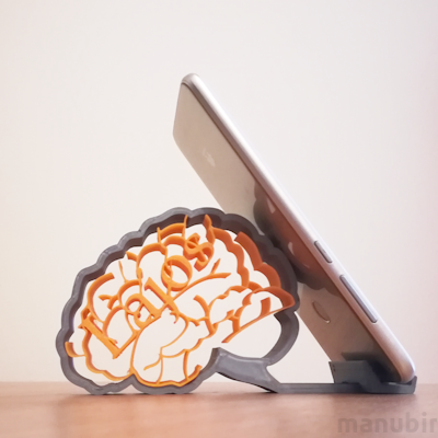 Personalized Brain Smartphone Holder - custom 3D printed
