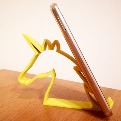Unicorn Phone Holder - 3d printed product