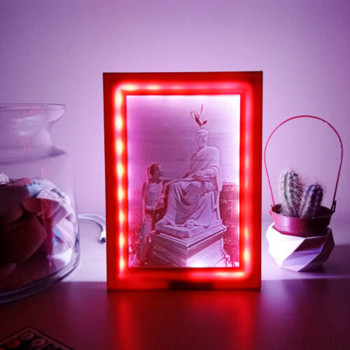 3D Photo in Colopr Frame with LED light, 10x15 - Lithophane