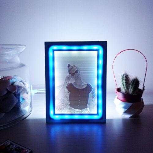 3D Photo in Color Frame with LED light - Lithophane