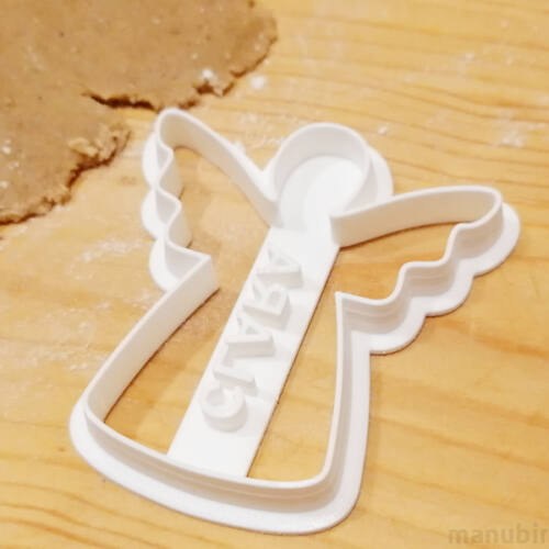 Angel Cookie Cutter with Custom Text - 3D printed
