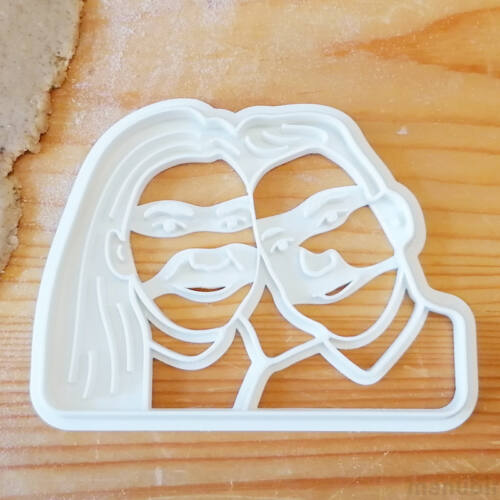 Couple Custom Face Cookie Cutter from photo - 3D printed