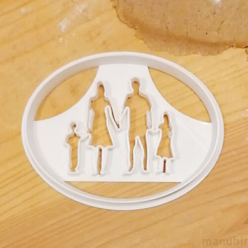 Family Cookie Cutter - 3D printed