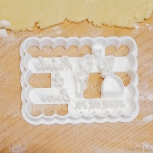 Lovers Cookie Cutter with Custom Text - 3D printed
