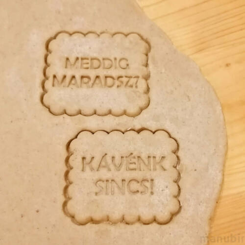 Cookie Cutter with Funny Custom Text - 3D printed