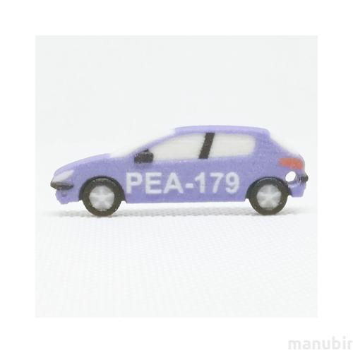 Custom Peugeot 206 Keychain - 3D print
