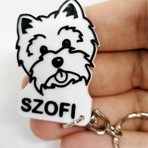 Custom 3D Printed Gift - Dog Keychain with Name