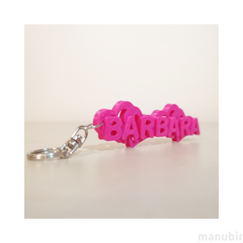Custom 3D Printed Gift - Name Keychain with Hearts