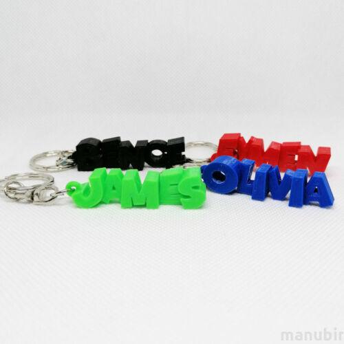 Name Keychain - custom 3D printed