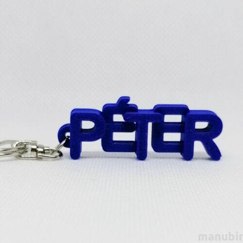 Betűs kulcstartó - Péter