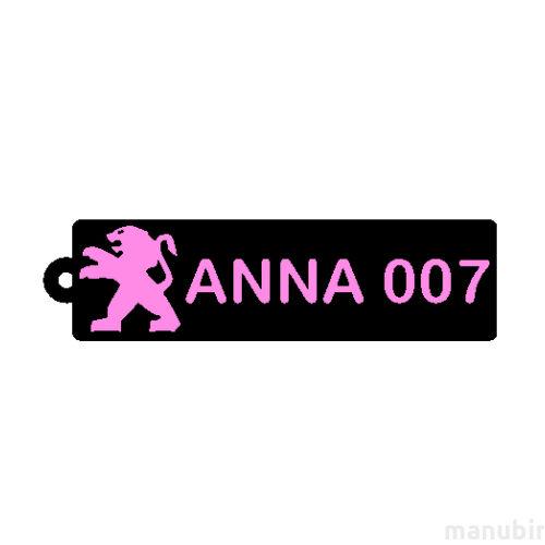 Egyedi kulcstartó - Anna 007